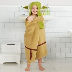Yoda Baby Hooded Bath Towel