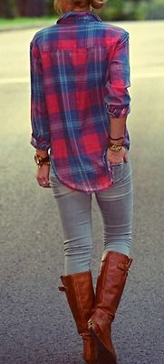 I would wear a flannel and boots every day if I could.