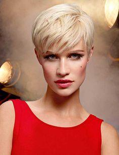 Imagen cortes-de-cabello-y-peinados-para-mujer-primavera-verano-pelo-corto-con-flequillo-de-lado del artículo Los mejores cortes de cabello y peinados para mujer Invierno 2017 | Pelo corto