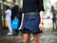 Skirt! Street Style from Milan Fashion Week at the Spring Summer 2013 shows
