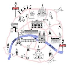 Paris Airport Magazine by Zoe More O'Ferrall Illustration Paris Map, Paris Travel, Paris France, Plan Ville, Plan Paris, Image Paris, Deco Paris, Paris Airport, Travel Tips