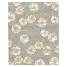 Dandelion Special Order Wool Rug - Colored Background (4-Week Delivery)   west elm