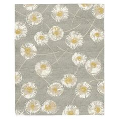 8 x 10- $1399  master bedroom Dandelion Special Order Wool Rug - Colored Background (4-Week Delivery) | west elm