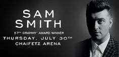 Grammy award winner Sam Smith will perform at the Saint Louis University Chaifetz Arena on July 30.