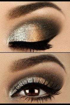 A dramatic smokey eye brings out the best in your brown eyes