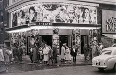 Astoria Theatre, Charing Cross Road, London, mid-1957. The Astoria was demolished at in 2009 for the Crossrail project.