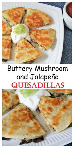 Buttery, crunchy, cheese and veggie-filled quesadillas! MyRecipeReviews.com