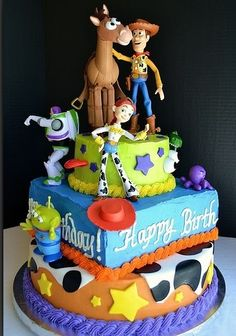 Toy story cake for a baby boy shower :) .. Something I want if its a boy @cecily Garcia