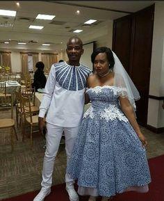 tswana traditional attire 2019 for african women - traditional attire ShweShwe 1 African Print Wedding Dress, African Wedding Attire, African Attire, African Wear, African Women, African Dress, African Beauty, African Traditional Wedding Dress, Traditional Wedding Attire