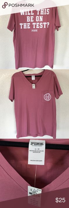 PINK Victoria Secret NWT . Super cute ! Great Christmas gift for your student ❤️ price Firm PINK Victoria's Secret Tops Tees - Short Sleeve