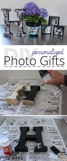28 Creative Handmade Photo Crafts with Tutorials - DIY Personalized Photo Gifts. Another unique and creative way to make personalized photo gifts. Family and friends are sure to cherish them for many years. Photo Craft, Diy Photo, Wood Photo, Picture Craft, Picture Gifts, Homemade Christmas, Christmas Diy, Fun Crafts, Diy And Crafts