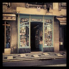 Art Nouveau shop front on the 28 Tram route. #Lisboa #Portugal