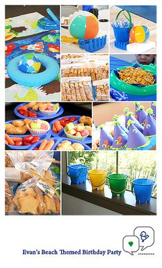 #Evan's Beach Themed Birthday Party