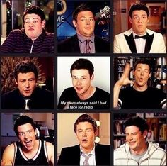 Cory Monteith you were so funny! I miss you!