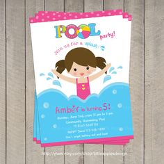 Free Printable Pool Party Invites For Kids