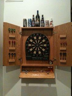 Oak Dart Board Cabinet - by aweber @ LumberJocks.com ~ woodworking community