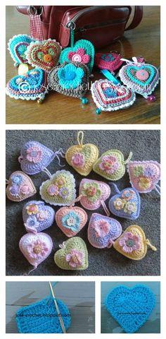 Crochet 3D Heart Pattern Video Tutorial