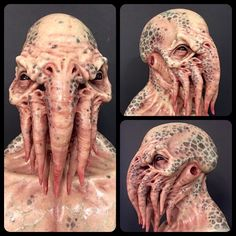 http://instagram.com/immortalmasks/ Cthuluhu silicon mask sculpted and painted