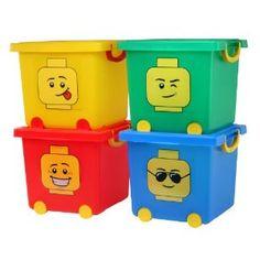 LEGO® Square Stacking Basket Set TSB-SQL (Red, Gree, Blue, Yellow):Amazon:Home & Kitchen
