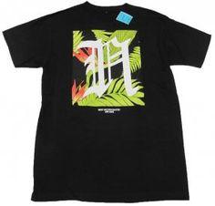 Neff Mens Tropical Logo Tee Shirt Black Short Sleeve T-shirt