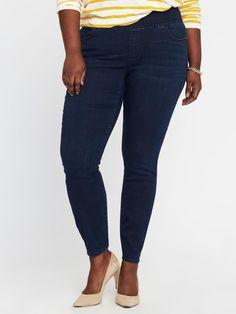 df0326c8a316f Old Navy Jeans 24 Plus Short SKINNY Leg Denim Womens 24w Smooth Comfort