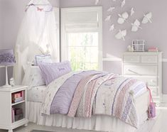 Pottery Barn Kids- Kate's room makeover- paint color & inspiration- but with original hardwood floors