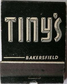Tiny's matchbook