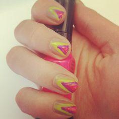 Tribal inspired neon nails #bbdesktweets #birchbox http://birch.ly/xesH4x