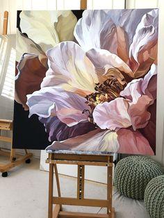 Floral Artwork, Watercolor Artwork, Diy Canvas Art, Arte Floral, Botanical Art, Flower Art, Peony Painting, Inspiration, Ideas