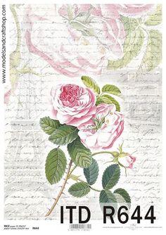 Reispapier Retro Blumen Scrapbook Decoupage von ModelsAndCraftShop