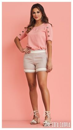 Summer Fashion Outfits, Short Outfits, Girl Fashion, Short Dresses, Fashion Looks, Womens Fashion, Looks Plus Size, Sleeve Designs, Casual Looks