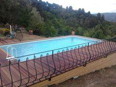 piscine laghetto hors sol classic et plage bois