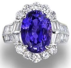 10 Carat Color-Changing Sapphire, Diamonds and Platinum Ring