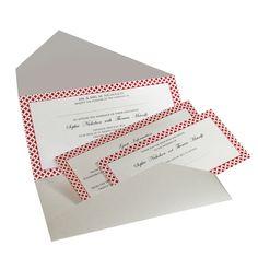 Red Diamond Wedding Invitations