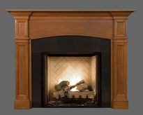 """The Hartford mantel has a 2 1/2"""" arched breast plate."""