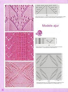 78 Modele de tricotat cu scheme explicative si informatii pentru tricotarea modelelor