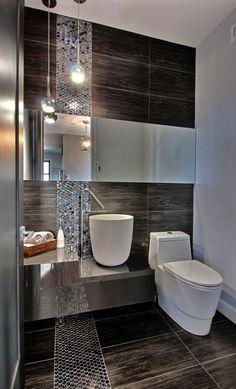 Small Bathtub Design 033 (Small Bathtub Design design ideas and photos Modern Small Bathrooms, Small Bathroom Tiles, Contemporary Bathroom Designs, Bathroom Tile Designs, Modern Bathroom Design, Bathroom Interior Design, Bathroom Ideas, Master Bathroom, Small Bathtub