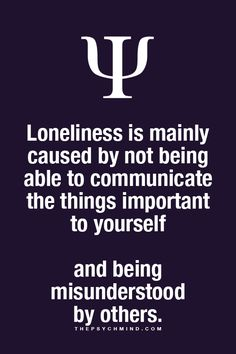 About lonliness
