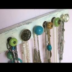 Love this idea! Hate not having somewhere to hang necklaces and bracelets.