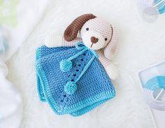 Amigurumi Lion Perritos : Colcha con perritos o manta de apego para acurrucarse tejida a