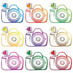 Camera Clip Art Digital Clipart DIY Photographer Photography Logo Design Elements Scrapbooking Supply Commercial Use Png Graphic 10208 #CameraClipArt #DigitalClipart #DIYPhotographer