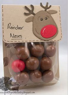 What an awesome stocking filler idea, you can use Malteasers for the rest of the noses and hand write it yourself! #DIY #Christmas