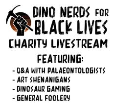 It's #FossilFriday and @DinoNerdsForBLM  charity livestream is about to start! Starting now and through Sunday night, watch a paleontology-themed livestream and support #Dino4BlackLives! It's an amazing line up and we're honored and excited to be one of the guests. Sunday Night, A Team, Charity, Nerd, Watch, Amazing, Clock, Geek, Wrist Watches