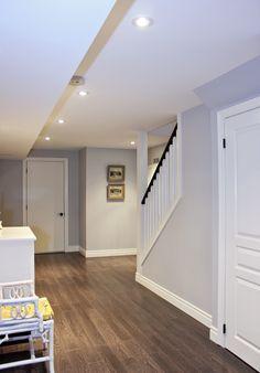 Basement hallway design idea