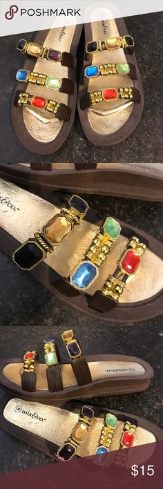 ‼️HUGE FRIDAY SALE‼️ NWOT Jeweled Sandals Beautiful sandals, never worn Shoes Sandals