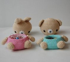 Amigurumi Crochet Pattern Bear and Bunny Box by pepika on Etsy