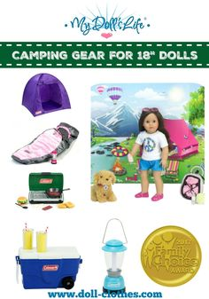 The Lakeside Collection Coleman® Camp Stove Doll Playset
