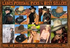 Ladies Cowboy Hats - Personal Picks And Best Sellers from Tribal And Western Impressions- www.indianvillagemall.com