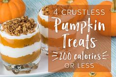 4 Crustless Pumpkin Treats That Are 200 Calories or Less