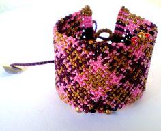 Macrame bracelet. Macrame cuff. Colorful bracelet. by asmina